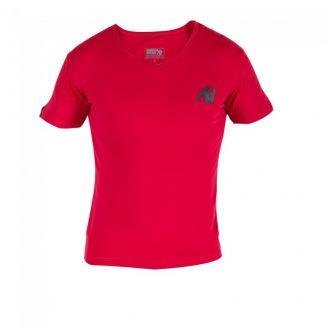 GORILLA WEAR Essential V-Neck T-Shirt Red