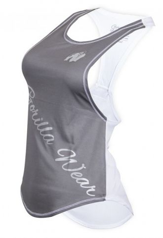 GORILLA WEAR Florida Stringer Tank Top Anthracite/White