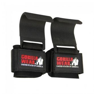 GORILLA WEAR Weight Lifting Hooks Black