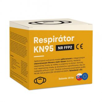 KN95 légzésvédő maszk (FFP2)20db + 2db