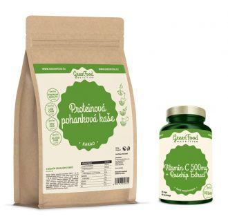 GreenFood Nutrition Proteinová pohanková kaše bezlepková