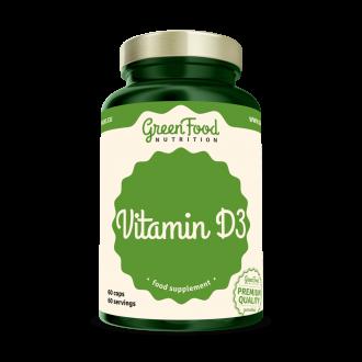 GreenFood Vitamín D3 60 kapszula