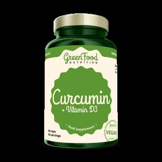 GreenFood Curcumin + Vitamín D3 60 vegan kapszula