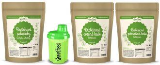 GreenFood Gluténmentes Protein Reggeli LOW CARB + Shaker