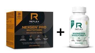 Reflex Nexgen® PRO + Digestive Enzymes + Reflex Albion Magnesium 90 kapszula