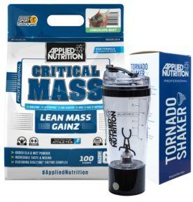 APPLIED NUTRITION CRITICAL MASS 6KG + TORNADO SHAKER GRATIS