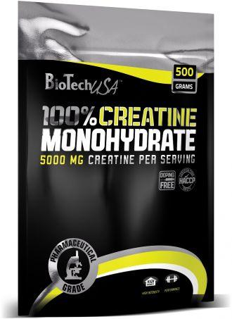 BioTech 100% CREATINE MONOHYDRATE 500g zacskó