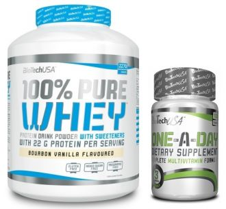 BioTech 100% Pure Whey Protein 2270g + BioTech ONE A DAY