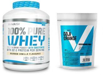 BioTech 100% Pure Whey Protein + Vitalmax SUPERFOODS Goji Orange