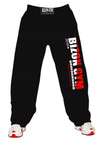 Bizon Gym Fitness feliratos melegítő piros/fehér