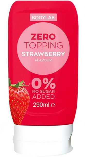 Bodylab Zero Topping Syrup 290ml eper