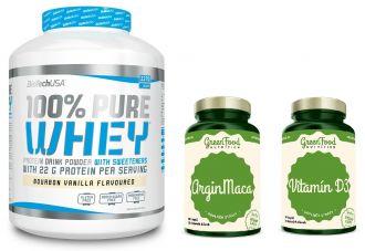 BioTech 100% Pure Whey Protein + ArginMaca + Vitamin D3