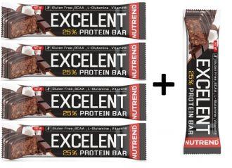 Nutrend Excelent Protein bar 85g - akció 4+1 AJÁNDÉK