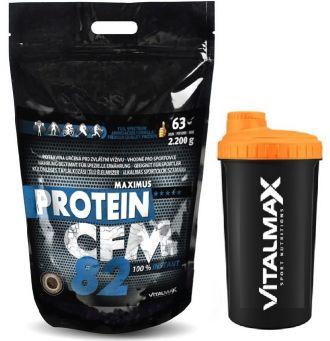 Vitalmax PROTEIN CFM 82 instant / 2200g + Vitalmax SHAKER NEON 700ml
