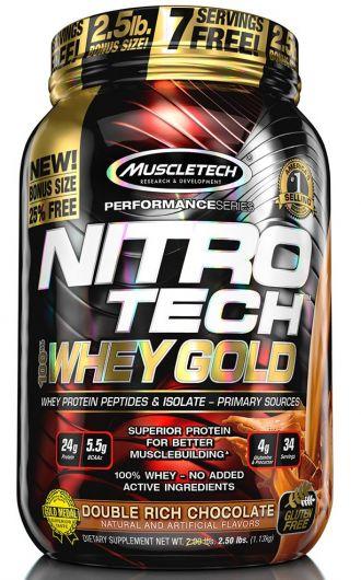 MUSCLETECH NITRO-TECH 100% Whey gold 1130g