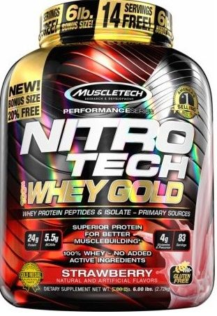 LIMIT EDITION MUSCLETECH NITRO-TECH 100% Whey gold 2720g
