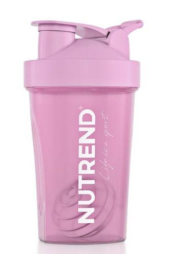 NUTREND Shaker 400 ml rózsaszínű