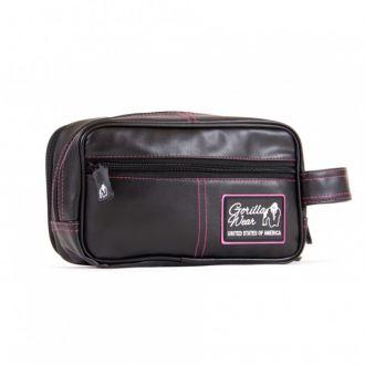 GORILLA WEAR Womens Toiletery Bag Black/Pink