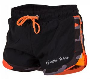 Előnézet - GORILLA WEAR Denver Shorts Black/Neon Orange