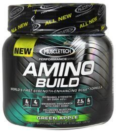 MUSCLETECH Amino Build 450g NEW + Muscletech p�l�