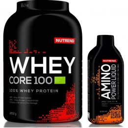 NUTREND WHEY CORE 100 NEW 2250g + AMINO BCAA MEGA STRONG 500ml AJ�ND�K