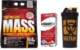PVL MUTANT MASS 6800g + HYDROXYCUT Pro Clinical 60cps. + Mutant shaker
